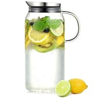 Lose weight: the water diet flushes all fat cells out of the body! - Ecooe glass carafe liters (full capacity) glass jug made of borosilicate glass water jug ​​ - Glass Water Jug, Glass Jars, Carafe, Fruit Water, Water Fasting, Le Diner, Yoga Beginners, Diet And Nutrition, Slushies