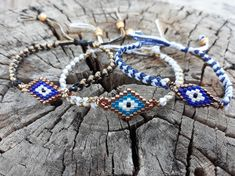 #evileye, #evileyebracelet, #handmadeaccessories, #accessories, #micromacrame, #bracelet, #handmadebracelet, #evapolart, #handmade Beaded Jewelry, Handmade Jewelry, Beaded Bracelets, Evil Eye Bracelet, Micro Macrame, Charmed, Jewels, Accessories, Bijoux