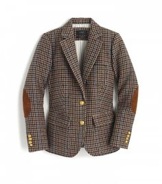 crew rhodes blazer in houndstooth wool; or, the most perfect blazer in the land. Brown Corduroy Jacket, Houndstooth Jacket, Brown Jacket, Brown Blazer, Corduroy Blazer, Pijamas Women, J Crew Jacket, Blazer Outfits, Tweed Blazer Outfit