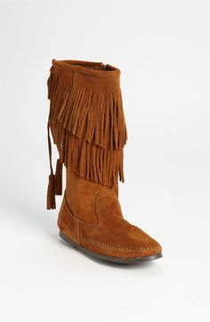 Minnetonka Two Layer Fringed Boot available at #Nordstrom