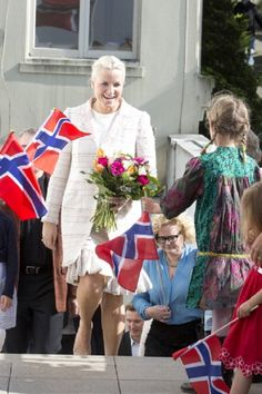 Crown Princess Mette-Marit of Norway visits The Norwegian Seamen's Church during day three of their five day official visit to the USA on 7 May 2013 in San Francisco, Ca.