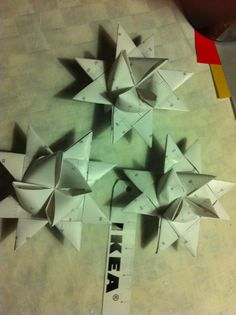 Christmas   Xmas   Jul   Noel. DIY: Decoration, Stars made form Measure Tape from Ikea. Danish. Denmark.