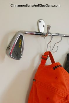 Golf Club Hat Rack. Re-pinned by www.apebrushes.com. GREENS BRUSHES THAT REALLY WORK!