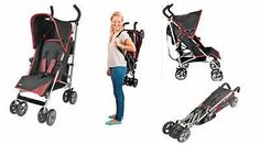 5 Position Lie Back Buggy 6 Months+ 15kg Folding Lightweight Pushchair Stroller