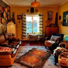 Boho living room bohemian living rooms, bohemian house, bohemian decor, diy l Bohemian Living Rooms, Bohemian House, My Living Room, Bohemian Decor, Living Room Decor, Small Living, Living Spaces, Cozy Living, Apartment Decoration