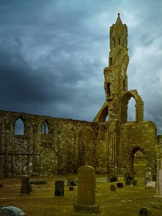 Graveyard in St Andrews Cathedral, Scotland