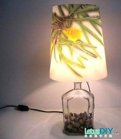 Easy DIY bottle lamp!!