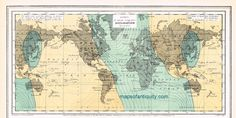 World Magnetic Declination Map 1872 - Antique Maps and Charts – Original, Vintage, Rare Historical Antique Maps, Charts, Prints, Reproductions of Maps and Charts of Antiquity