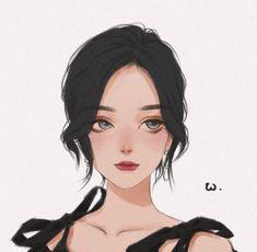 Pretty Anime Girl, Cool Anime Girl, Beautiful Anime Girl, Anime Art Girl, Girl Cartoon, Cartoon Art, Anime Black Hair, Cast Art, Pop Art Girl