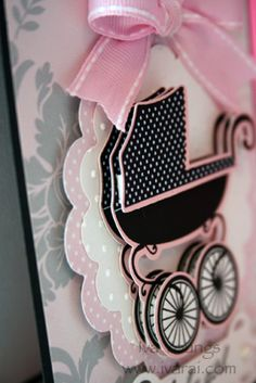 card ivarai.com die cut from Cricut cartridge  Teresa Collins Baby Boutique