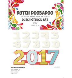 Scrapbookdepot - Dutch Doobadoo Template - Numbers 0-9 - dd470990040 - Dutch Doobadoo - Dutch Doobadoo
