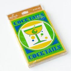 Vintage party invitations set of 8 cocktail by TarragonVintage, $7.00