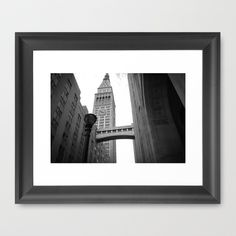 Black and White View of New-York City Framed Art Print by 76spots - $34.00