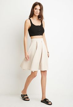 Pleated A-Line Skirt - Skirts - 2000131791 - Forever 21 UK