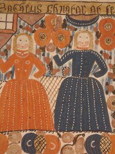 Swedish Folk Painting of Zaccheus in the Fig Tree Scandinavian Folk Art, Architecture Tattoo, Folk Embroidery, Antique Quilts, Naive Art, Animal Tattoos, Indian Art, Art Decor, Decoration