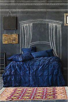 Teen Bedroom with Chalkboard Wall.