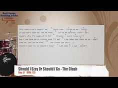 Should I Stay Or Should I Go - The Clash Drums Backing Track with chords and lyrics