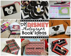 DIY Disney Autograph Books - cute ideas to use for other stuff