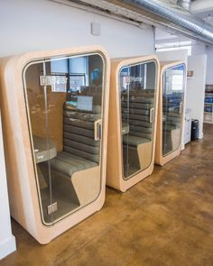 Open Office Phone Booth – Famous Last Words Office Space Design, Modern Office Design, Office Interior Design, Office Interiors, Open Concept Office, Open Office, Office Pods, Deco Restaurant, Capsule Hotel