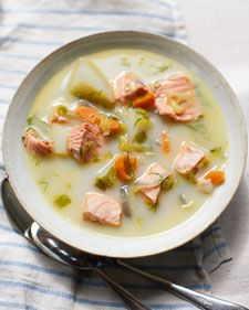 This is cold-weather dining at its best. Generous pieces of fresh fish floating in a creamy broth with root vegetables are hearty and satisfying. This recipe is from Lucinda Scala Quinn, and it appears on the Martha Stewart Living digital magazine for iPad.