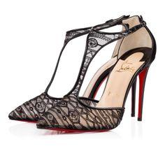 Chaussures femme - Salonu Dentelle Jersey/kid - Christian Louboutin