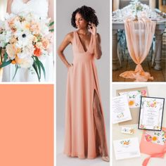 Top Wedding Color Schemes For 2020 – Wedding Shoppe Inc: cantaloupe peach coral August Wedding Colors, Peach Wedding Colors, Wedding Color Schemes, Wedding Coral, Wedding Orange, Rose Bridesmaid Dresses, Blue Bridesmaids, Pantone, Wedding Shoppe