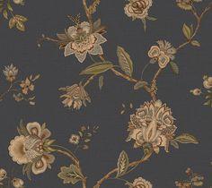 """Gentlemen's Quarters Monaco Jacobean Trail 27' x 27"""" Floral Wallpaper"""