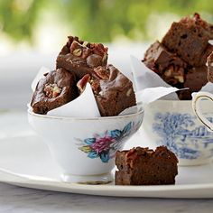 Bacon-Bourbon Brownies with Pecans. Gotta have a little sweet to balance all that savory on the table!
