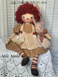 Primitive Raggedy Ann Pattern E PATTERN Primitive Annie | Etsy Handmade Dolls Patterns, Primitive Doll Patterns, Doll Patterns Free, Primitive Crafts, Handmade Stuffed Animals, Homemade Dolls, Fabric Dolls, Rag Dolls, Raggedy Ann And Andy