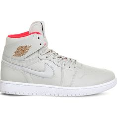 sports shoes a2445 4e178 NIKE Air jordan 1 high noveau leather trainers ($160) ❤ liked on Polyvore  featuring