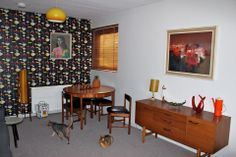 My living room, in a 1970s Council flat in Aberdeen. Of course my favourite things in the room are the 2 cats! - Susan Thoms