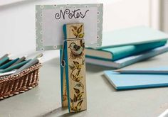 Create a special wood-burned noteclip to get your desk better organized.