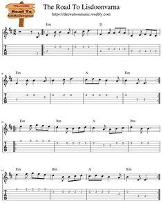 The Road To Lisdoonvarna Guitar Tab Guitar Tabs Songs, Easy Guitar Songs, Music Tabs, Music Chords, Aiken Drum, Irish Songs, Lord Of The Dance, Song Sheet, Bluegrass Music