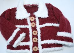 Baby knitted sweater jacket pullover jumper by sweetygreetings, £7.80
