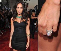 Pin for Later: Die schönsten Eheringe der Stars Megan Fox Brian Austin Green hielt um die Hand von Megan Fox im Juni 2010 mit einem 3-karätigen Diamantring an.