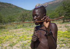 Himba Man Playing Bow Instrument, Epupa, Namibia   © Eric La…   Flickr