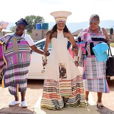 Discover recipes, home ideas, style inspiration and other ideas to try. African Bridesmaid Dresses, African Wedding Attire, African Print Dresses, African Attire, African Wear, African Weddings, Zulu Traditional Wedding Dresses, Tsonga Traditional Dresses, South African Traditional Dresses