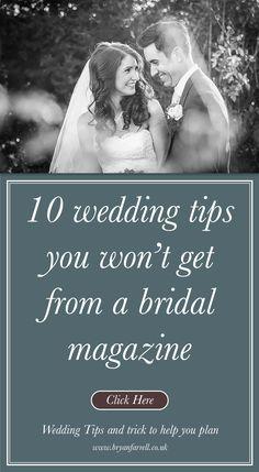 10 Wedding Tips You Won't Get From A Bridal Magazine Wedding Ideas Board, Wedding Planning Inspiration, Plan My Wedding, Wedding Planning Checklist, Wedding Trends, Wedding Tips, Wedding Stuff, Wedding Venues, Marriage Goals