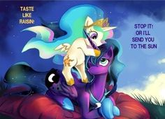 Baby Tia and adult Luna. (We all want you to do it Luna)