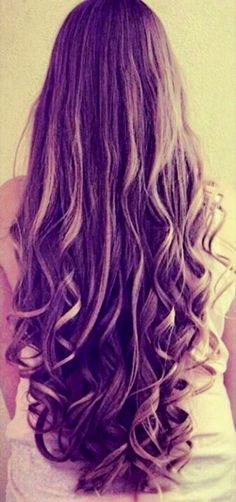 Hair <3 long curly hair without layers :)