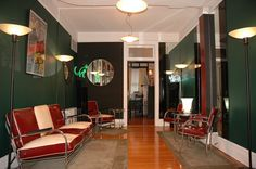 Royalchrome Lobby Suite -1930s -1940s - East View.