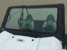 """2016 Kawasaki Teryx-4 and Teryx-2 Laminated Safety Glass Windshield (DOT Rated)  P/N: 13203  ·  Fits: 2016 Teryx-4 and 2016 T-2 (If you have a 2012-15 Teryx see P/N: 12309)  ·  1/4"""" Thick laminated safety glass.  ·  Laser cut and CNC formed metal frame.  ·  DOT rated and etched into the glass.  ·  Rubber gasket seals and protects your hood.  ·  Tool-Less removal.  ·  Includes: hand operated wiper.  ·  Mounts with metal clamps."""