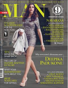 Deepika Padukone on the cover of The Man: Why everyone's Deewana over her!