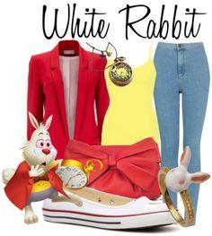 Alice in Wonderland - white rabbit style Alice In Wonderland Outfit, White Rabbit Alice In Wonderland, Alice In Wonderland Characters, Wonderland Costumes, Alice In Wonderland Crafts, Fantasia Disney, Disney Pixar, Disney Bounding, Disneybound Outfits