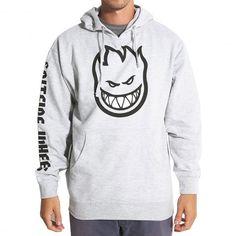 SPITFIRE Jacket Bighead Fill sweat à capuche gris chiné 75,00 € #skate…