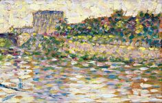 Georges Seurat, The Seine at Courbevoie, 1883-84 on ArtStack #georges-seurat #art