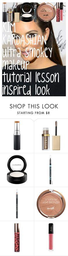 """KIM KARDASHIAN Ultra smokey makeup tutorial lesson inspired look"" by oroartye-1 on Polyvore featuring beauty, Stila, MAC Cosmetics, Barry M, Laura Mercier and Guerlain"