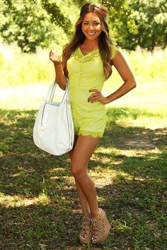 Ark & Co: Time With You Romper: Lime/Nude #shophopes #arknco
