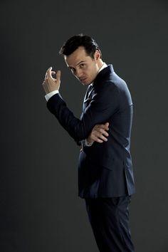 Jim Moriarty portrayed by Andrew Scott in Sherlock BBC Molly Hooper Sherlock, Sherlock Moriarty, James Moriarty, Sherlock Cast, Sherlock Holmes Benedict Cumberbatch, Watson Sherlock, Sherlock Quotes, Sherlock John, Sherlock Season 2