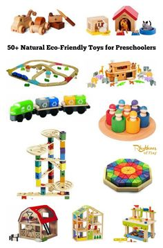 50+ Natural eco-friendly toys for preschoolers. This gift guide is filled with Waldorf and Montessori inspired toys made with natural materials that your child is sure to love. There are so many amazing toys to choose from! Gift Ideas | Christmas | Birthday's